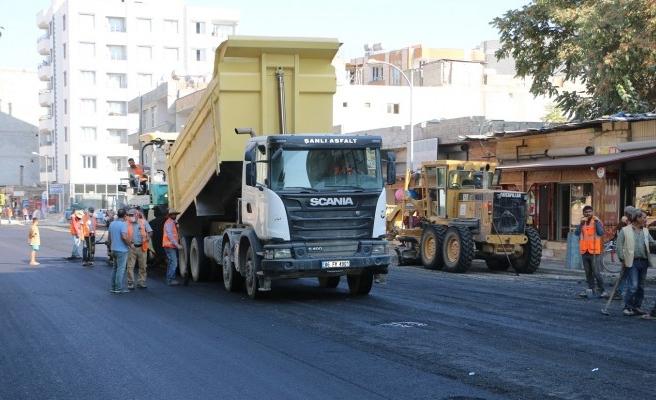 Suruç'ta asfalt, parke ve kaldırım çalışmaları sürüyor