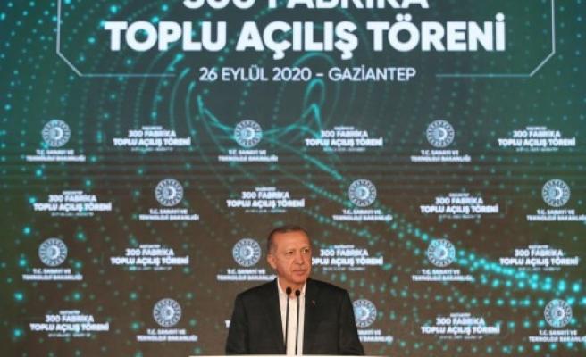 Cumhurbaşkanı 300 fabrikanın açılışını yaptı! 45 bin istihdam