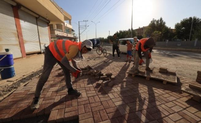 Büyükşehir, Ceylanpınar'daki çalışmalarını sürdürüyor