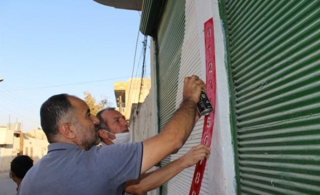 Barış Pınarı bölgesinde 'numarataj' çalışmaları başladı