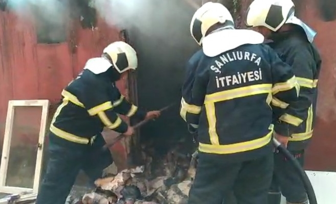 Şanlıurfa'da odunlukta çıkan yangın korkuttu