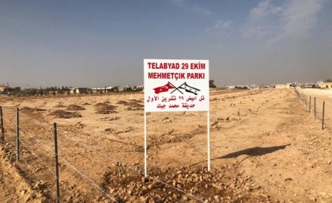 Cumhuriyetin anısına Telabyad'da fidanlar dikildi