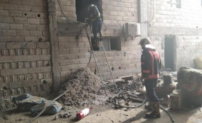 Urfa'da tekstil fabrikasında çıkan yangın söndürüldü