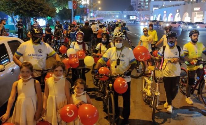Urfa'da cumhuriyet için pedal çevirdiler