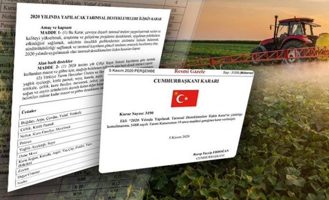 Resmi Gazete'de yayımlandı: Çiftçilere verilecek destek belli oldu