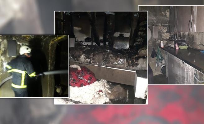 Suruç'ta korku dolu anlar: Ev yandı