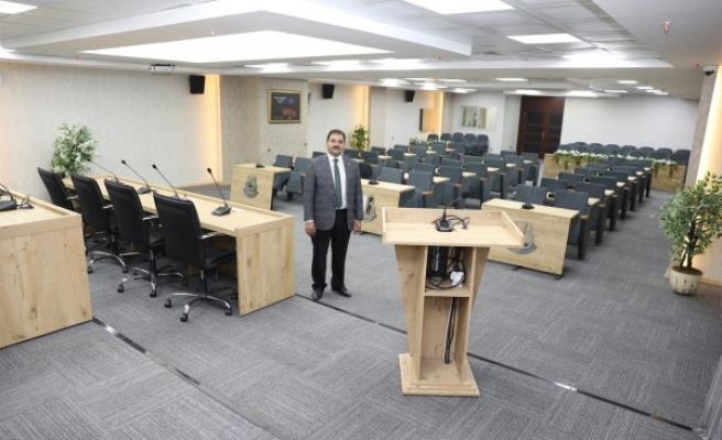 Haliliye'de yeni meclis salonu tamamlandı