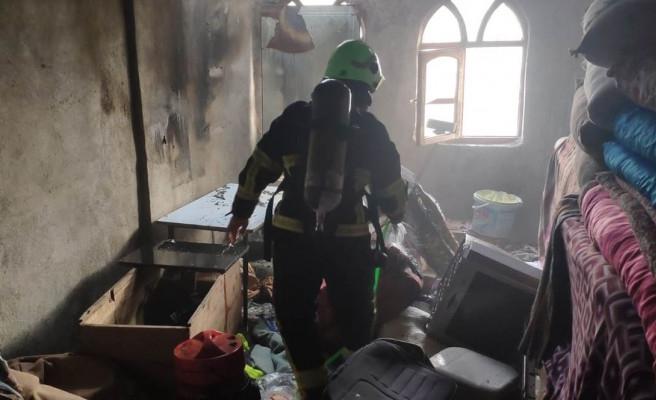 Eyyübiye'de mesken yangını