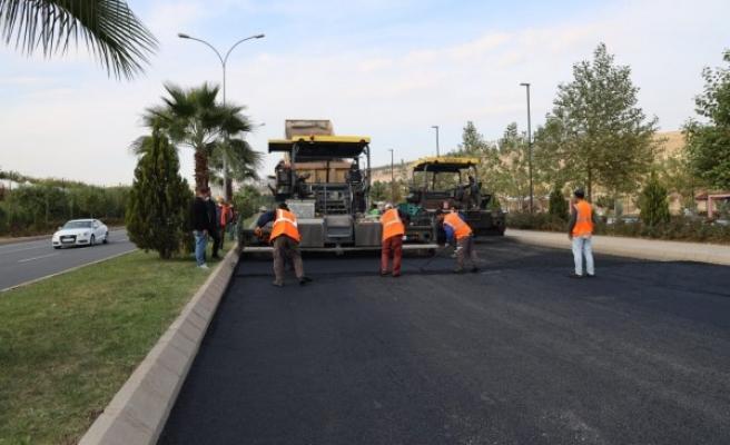 GAP Bulvarında asfalt çalışması yapıldı
