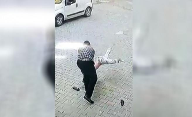 Şanlıurfa'da çocuğu yere vuran cani tutuklandı!