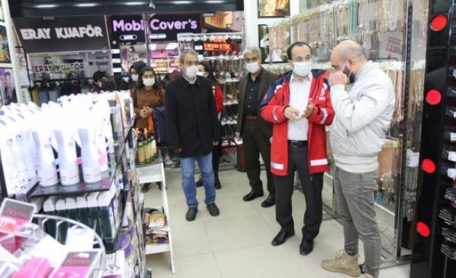 İl Sağlık Müdüründen maske ve mesafe denetimi