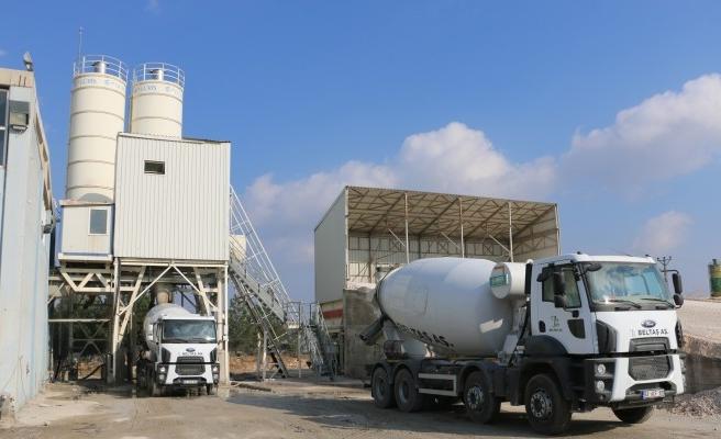Urfa'daki beton santrali üretime başladı