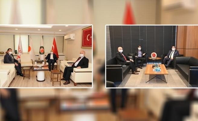 Canpolat, Ankara mesaisinde sendika başkanları ile görüştü