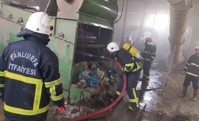 Urfa'daki çırçır fabrikasında yangın çıktı