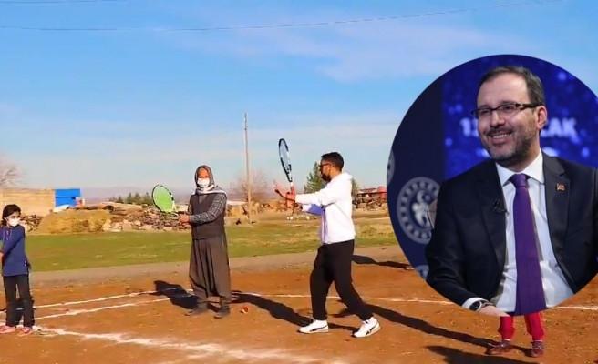 Viranşehir'de tenis sevdalısı köylülere Bakan'dan müjdeli haber!