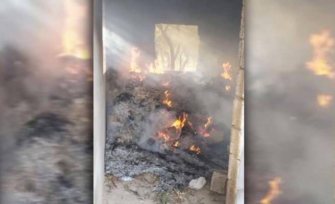 Devteyşti'nde metruk evde yangın çıktı