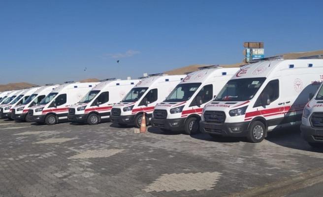 Şanlıurfa için 41 ambulans yola çıktı