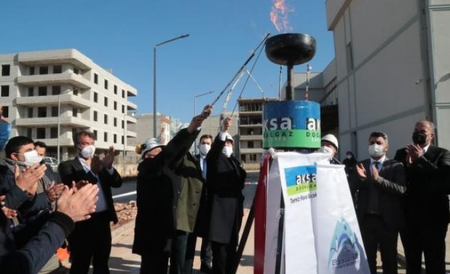 Eyyübiye doğal gaza kavuştu, ilk meşale yakıldı