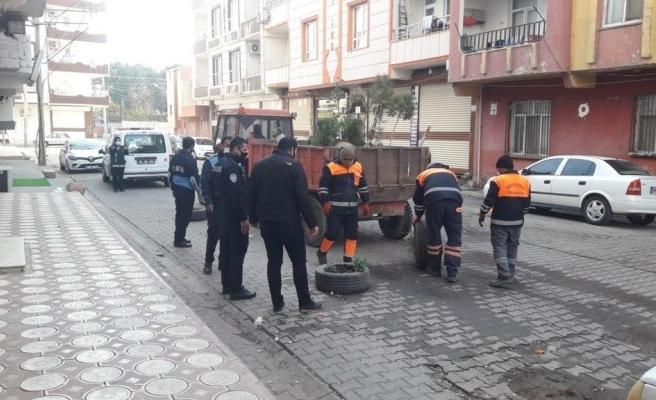 Viranşehir'de görüntü kirliliği ile mücadele: Topladılar