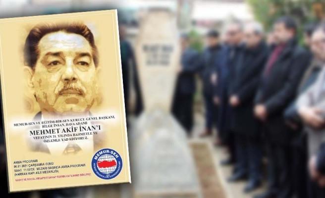 Mehmet Akif İnan, memleketi Urfa'da anılacak!