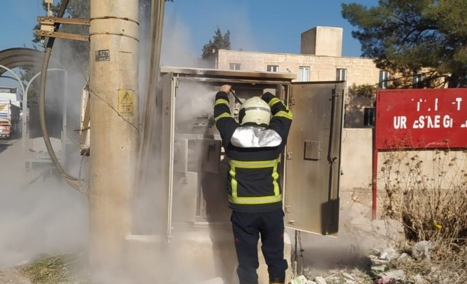 Eyyübiye'de elektrik panosunda yangın