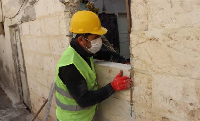 Tarihi sokaklarda restorasyon çalışmaları sürüyor