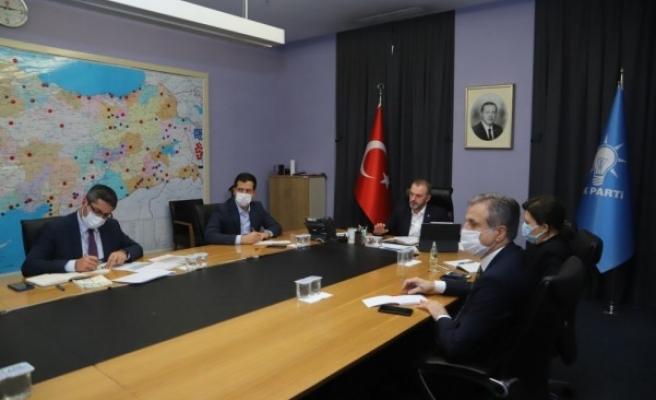 Urfa'nın ilçeleri AK Parti Genel Merkezinin masasında