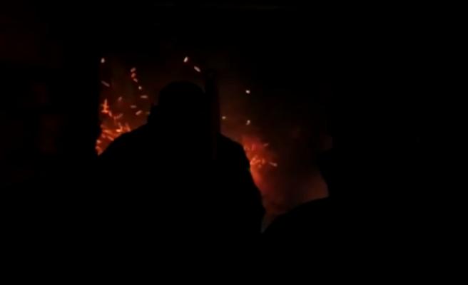 Eyyübiye İlçesinde korkutan yangın