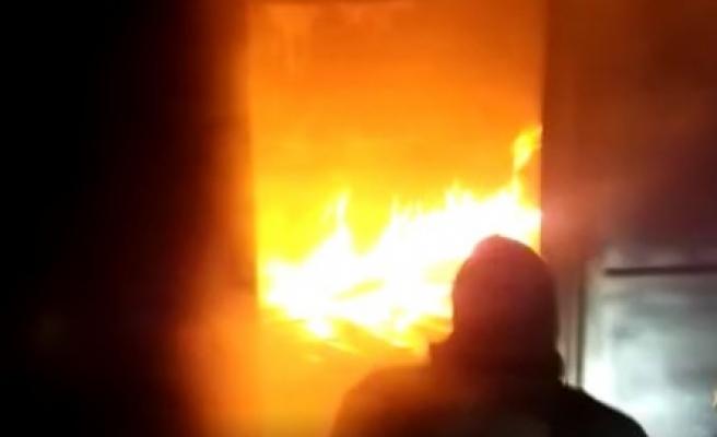 Urfa'da DEDAŞ'ın eski binasında yangın!