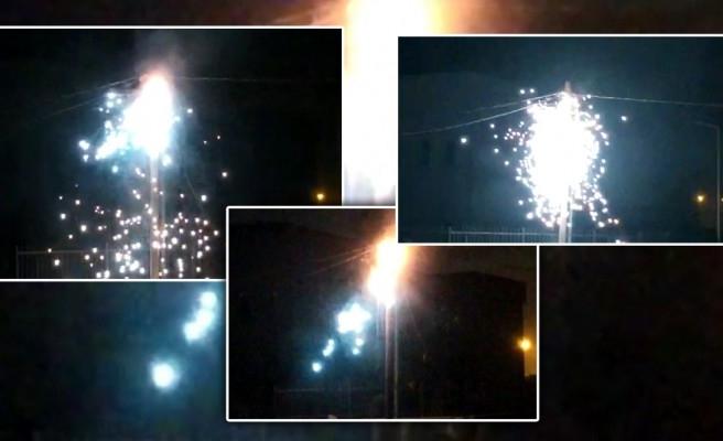Urfa'da patlayan elektrik trafosunun görüntüleri ortaya çıktı