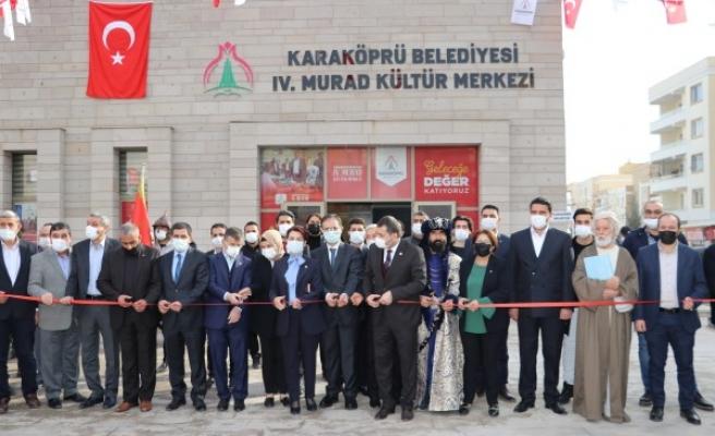 Karaköprü'de kültür merkezi hizmete açıldı!