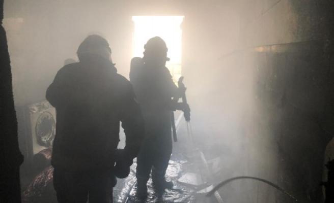 Eyyübiye'deki evde yangın çıktı