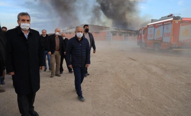 Beyazgül, Osmanbey'deki yangın alanında inceleme yaptı