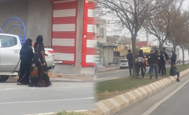 Eyyübiye'de vatandaşlar yasağa rağmen sokağa çıktı