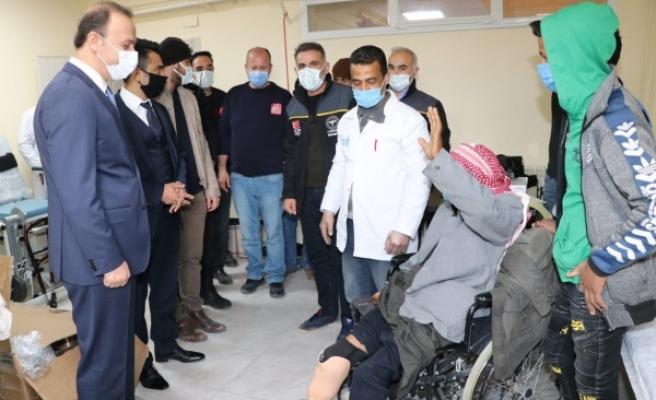 Barış Pınarı bölgesindeki engellilerin yüzü gülüyor