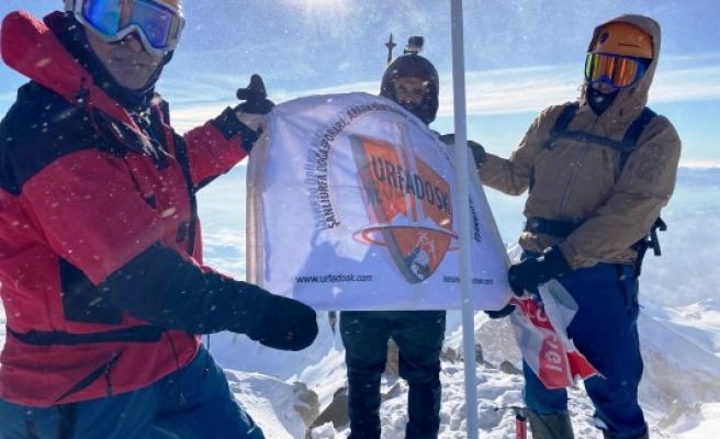 Şanlıurfalı dağcılar Erciyes Dağı Kış Tırmanışına katıldı