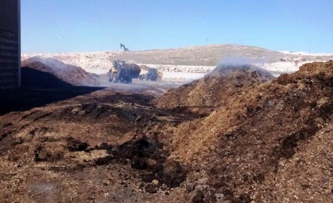 Şanlıurfa'da yağ fabrikasında yangın