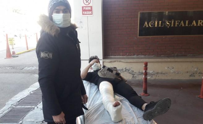 Haliliye'de motosiklet devrildi: 1 yaralı