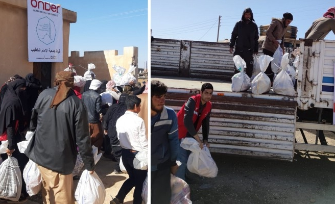 Suriyeli 400 aileye gıda yardımında bulunuldu