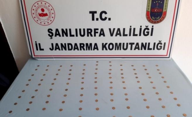 Viranşehir'de 110 altın sikke ele geçirildi (EK)