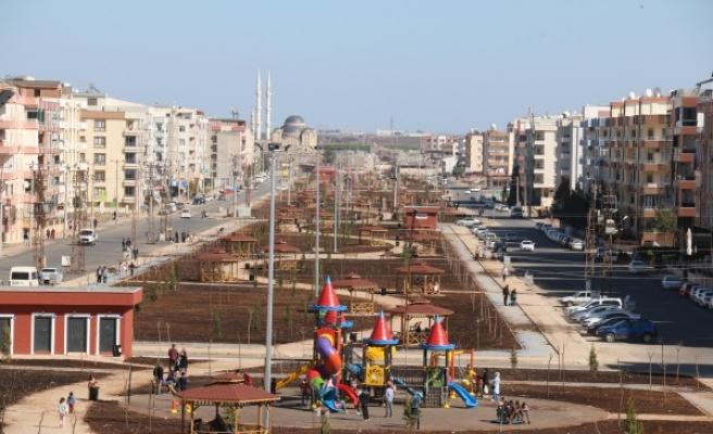 Viranşehir'de park çalışmaları devam ediyor