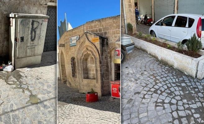 Tarihi Urfa sokaklarında tepki çeken manzara!