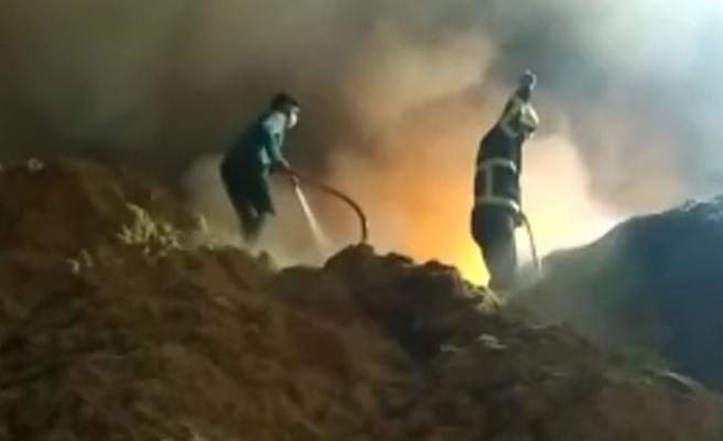 Şanlıurfa'da pamuk fabrikasında yangın çıktı