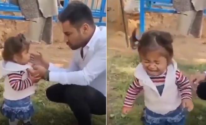 Küçük kız çocuğuna dayak dehşeti kamerada