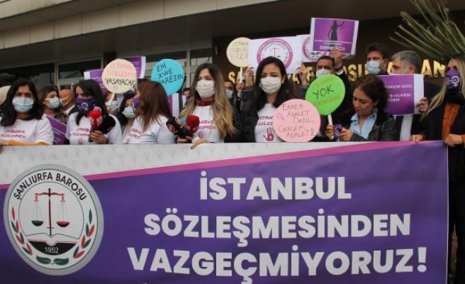 Şanlıurfa Barosu'ndan İstanbul Sözleşmesi'nin feshedilmesine tepki