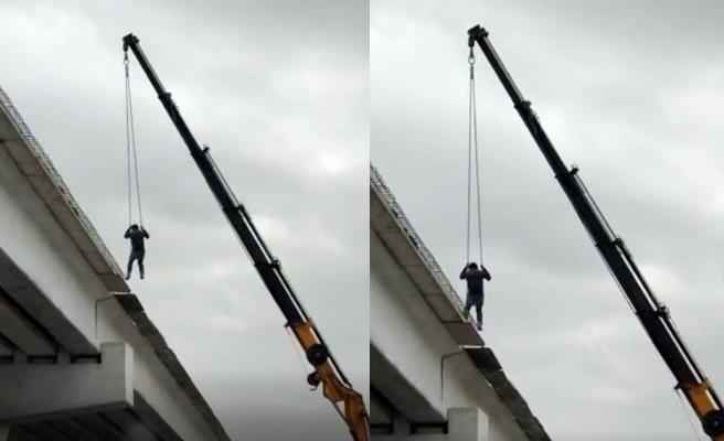 Şanlıurfa'da iş güvenliğini hiçe sayan görüntü!