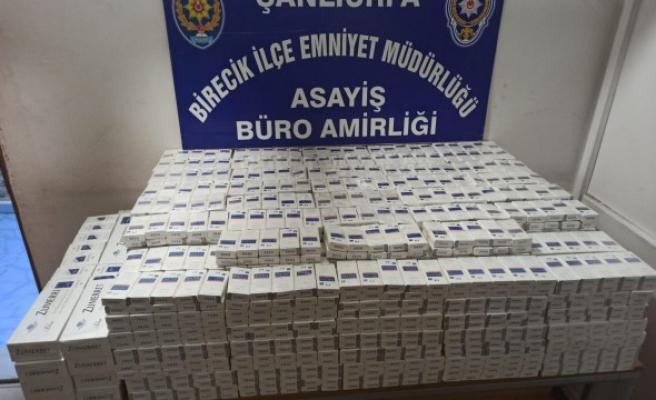 Birecik'te kaçak sigara operasyonu: 1 gözaltı