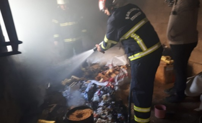Çocukların ateşle oyunu yangına neden oldu