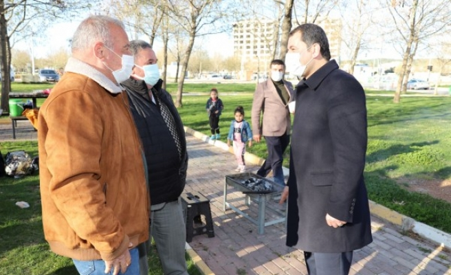 Baydilli piknik yapan vatandaşlarla buluştu