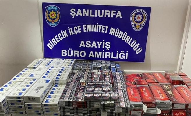 Şanlıurfa'da bin 760 paket kaçak sigaraya el konuldu